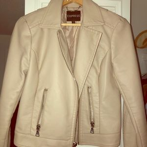 Express faux leather jacket size m